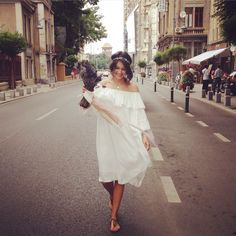Ioana wearing Mastij dress
