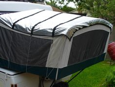 Solar bunk end covers from popupgizmos.com -- they keep you cooler in summer and warmer in winter! (I definitely need the high-wind version here in Nevada.)