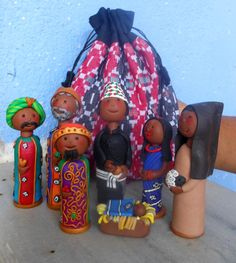 Nepalese Hand Crafted Polymer Nativity Scene. $90,00, via Etsy.