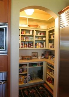 Open Pantry with Counters