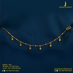 Gold 916 Premium Design Get in touch with us on Gold Earrings Designs, Gold Jewellery Design, Gold Jewelry, Teen Jewelry, Baby Jewelry, Gold Anklet, Anklet Jewelry, Sterling Silver Bracelets, Gold Necklace