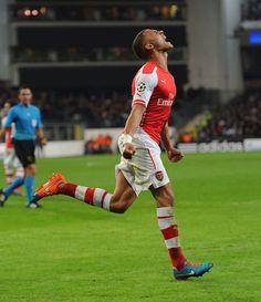 Anderlecht 1 Arsenal 2 - Gibbsy after scoring our equaliser