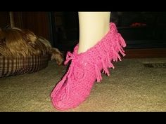 For Beginners ~ Glama's Super Easy Moccasin Slippers - YouTube