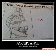 There's no point pretending to be Picasso when you can't draw a stick figure.