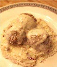 My ultimate comfort food, Swedish meatballs just like grandma used to make. cooking food