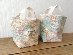 French carrier bag can you hold it pinterest kabelky fabric basket organizer bin set of two storage bags world map fabric gumiabroncs Images