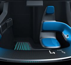 The vehicle also communicates with the driver via the cabin floor.