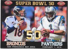 SUPER BOWL 50 - THE DENVER BRONCOS VS THE CAROLINA PANTHERS FRIDGE MAGNET #DenverBroncos