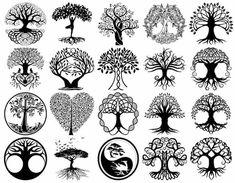 Suzi Tattoo Tatouage arbre de vie - unité de signification profonde et design attractif !, Tatouage arbre de vie - unité de signification profonde et design attractif ! Significations variées et variantes attrayantes du tatouage arbre de vie. Tattoo Life, Et Tattoo, Back Tattoo, Small Tattoo, Symbol Tattoos, Body Art Tattoos, Tatoos, Logo Arbol, Mundo Hippie