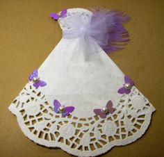 White Paper Doily Wedding Gown PDF Embellishment von ljbminis2021