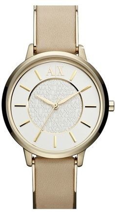 AX Armani Exchange Leather Strap Watch, 38mm (Online Only)