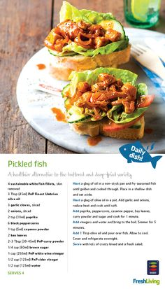 HEALTHY HERITAGE: Enjoy Cape Malay pickled fish on Good Friday. It's not only traditional, but also much healthier than battered #fish! #Easter #dailydish #picknpay #freshliving