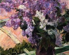Mary Cassatt | Lilacs in a Window | 1880 - My Grannie had white lilacs in the backyard. I will never forget that wonderful smell. The smell still brings back wonderful memories and makes me think back on the love we shared.