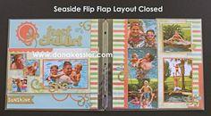Summer Fun with Seaside Flip Flap Scrapbook Page Kit!
