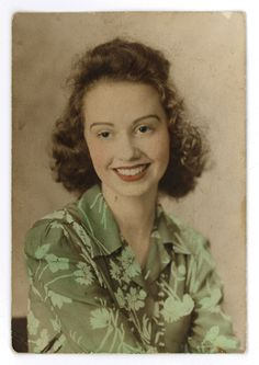 1940s hand-colored portrait of woman