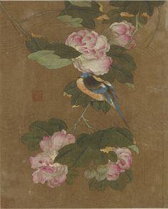 Chinese Art   Bird and flowers   F1911.165c