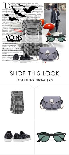 """""""Yoins 26"""" by lejlamoranjkic ❤ liked on Polyvore featuring Balmain, Ray-Ban, women's clothing, women, female, woman, misses and juniors"""