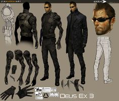 Concept characters | few character designs from Deus Ex 3