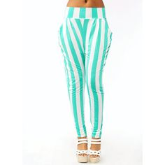 striped harem pants ($28) ❤ liked on Polyvore featuring pants, bottoms and jeans