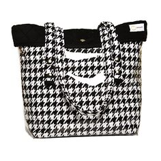 #TwoAlity's #houndstooth tote! The perfect #ChristmasPresent! The TwoAlity #tote has a clear outer shell which allows you to change the color of the tote by simply changing the liner! 100% made in the #USA! Check out all the tote options here: http://www.thetwoalitystore.com/boots/twoality-totes