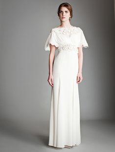crepe de chine wedding dress - Google Search