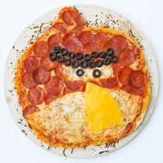 Recetas para niños: Pizza de salami Angry Bird