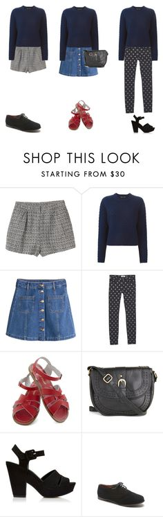 """"""".."""" by anaunderground on Polyvore featuring moda, Monki, Proenza Schouler, H&M, MANGO, Salt Water Sandals, Forever New e Black Poppy"""