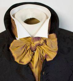 wing tip shirt collar and cravat idea