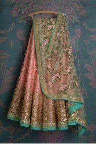 Peach Colour Net Fabric Party Wear Lehenga Choli Comes with matching blouse. This Lehenga Choli Is crafted with Embroidery This Lehenga Choli Comes with Unstitched Blouse Which Can Be Stitched Up to s. Net Lehenga, Indian Lehenga, Indian Gowns, Indian Attire, Indian Wear, Cape Lehenga, Lehenga Top, Banarasi Lehenga, Indian Wedding Outfits