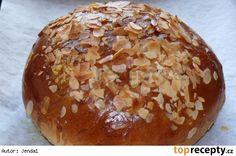 Krakonošův mazanec Easter Recipes, Baked Potato, Hamburger, Muffin, Food And Drink, Sweets, Bread, Baking, Breakfast