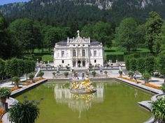 Linderhof Castle Bavaria, Germany - one of King Ludwig's castles - gorgeous!