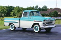 1959 Chevrolet Model 3100 Apache Fleetside pickup Maintenance/restoration of old/vintage vehicles: the material for new cogs/casters/gears/pads could be cast polyamide which I (Cast polyamide) can produce. My contact: tatjana.alic@windowslive.com