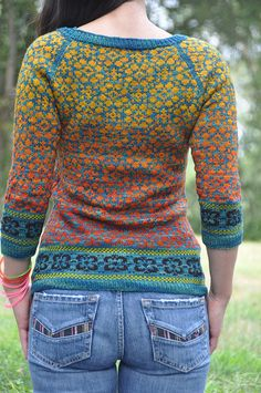 breath taking: I'm sure this is done with Kauni yarn-- we carry many colors in the shop! :)