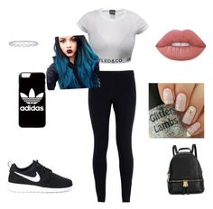 """""""I workout"""" by mwelch06 ❤ liked on Polyvore featuring NIKE, Michael Kors, adidas, Epoque and Lime Crime"""