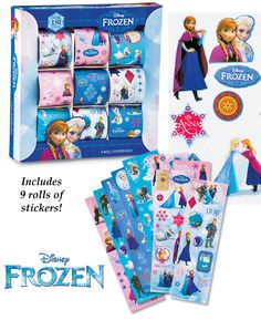 **$5.99**~Disney Frozen 9 Rolls Sticker Collection Set Your kids will love this set that includes over 150 Disney Frozen stickers! Includes 9 rolls of stickers that feature multiple sizes of stickers of Anna, Elsa, Olaf and many other characters, along with pretty snowflakes and cute sayings inspired by the movie. Box is 8 1/4″L x 8″W x 1 1/2″H. Ages 3+. http://kittykatkoutique.com/products-all/disney-frozen-9-rolls-sticker-collection-set/