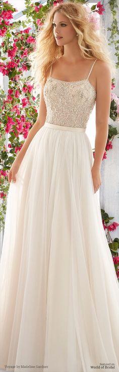 Voyage by Madeline Gardner Spring 2016 Wedding Dress.