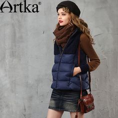 Cheap Vests & Waistcoats on Sale at Bargain Price, Buy Quality down vest, vest down, veste vintage from China down vest Suppliers at Aliexpress.com:1,Style:Fashion 2,Item Type:Outerwear & Coats 3,Clothing Length:Short 4,Pattern Type:Patchwork 5,Sleeve Style:Regular