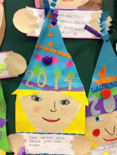 Kuvis ja askartelu - www.opeope.fi. Uudenvuodenlupaus ;) Art Activities For Kids, May 1, School Holidays, Elementary Schools, Art Lessons, New Art, Happy New Year, Arts And Crafts, Christmas Ornaments