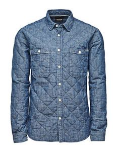Mineworker Billy Shirt, Medium Blue Denim, main