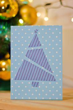 Christmas gift card, christmas tree, boże narodzenie, kartka, DIY , simple