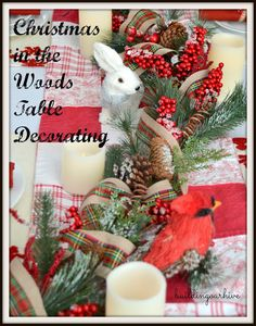 Building Our Hive: Christmas in the Woods Table Decorating