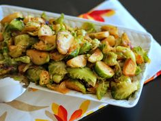 {Sweet and Spicy Brussell Sprouts}