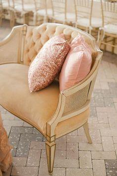 Sequin/glitter pillow