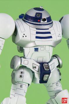 """Enhanced astromech droid"" - Custom Hi-Mock Star Wars Set, Lego Star Wars, Gundam Exia, Star Wars Design, Star Wars Celebration, Gundam Wing, Cool Toys, Awesome Toys, Super Robot"