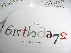Die Cut Number Birthday Cards