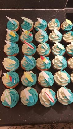 My surf cupcakes for cafe blu, newquay x
