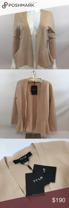 TY-LR Peplum Sweater Large NWT TY-LR Sweaters