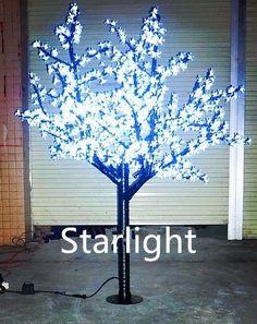 Outdoor 6ft LED Cherry Blossom Tree Christmas Light Garden/Home/Path Decor White #Starlight