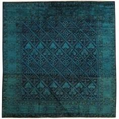 Square Pak Ziegler, All-Over Bayleaf Overdye | From a unique collection of antique and modern central asian rugs at https://www.1stdibs.com/furniture/rugs-carpets/central-asian-rugs/