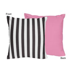 Sweet Jojo Designs Black and White Stripes Crib Bed Skirt Dust Ruffle for Paris Collection Bedding Sets
